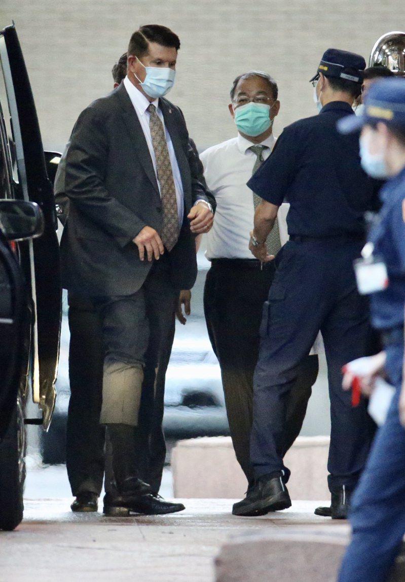 日前訪台的美國國務院次卿柯拉克(左)。  聯合報系資料照/記者林俊良攝影
