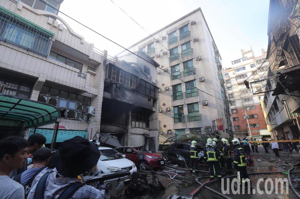 台中市東海夜市商圈氣爆釀4死1傷。記者黃仲裕/攝影
