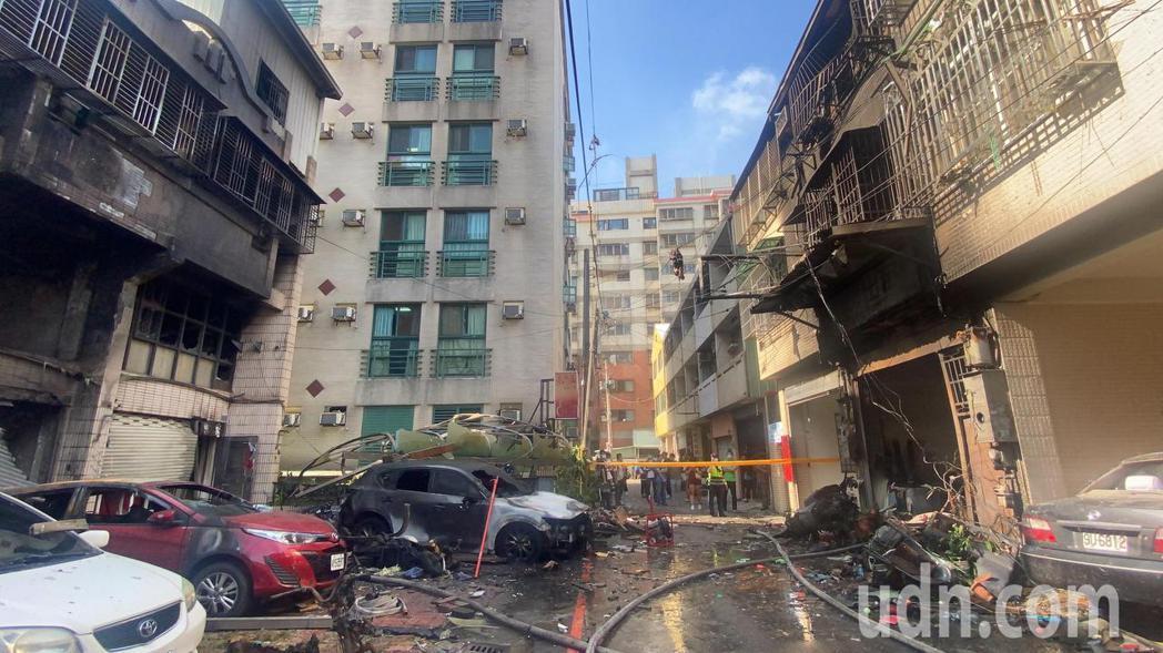 台中市東海夜市商圈氣爆釀4死1傷。記者趙容萱/攝影