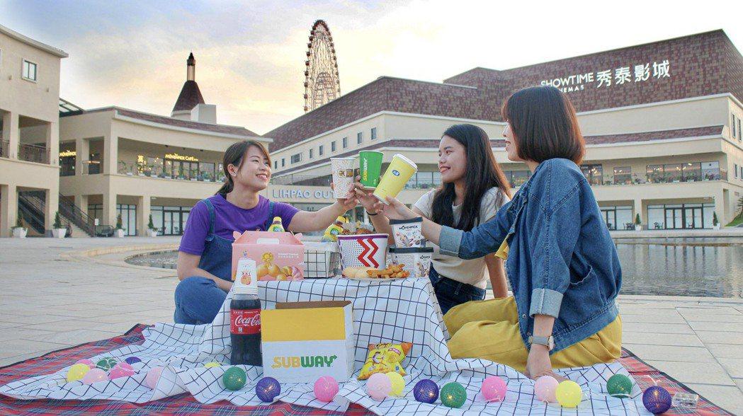 麗寶Outlet Mall邀請民眾在中秋節,帶著家人到科莫湖畔參加「月光漫舞野餐...