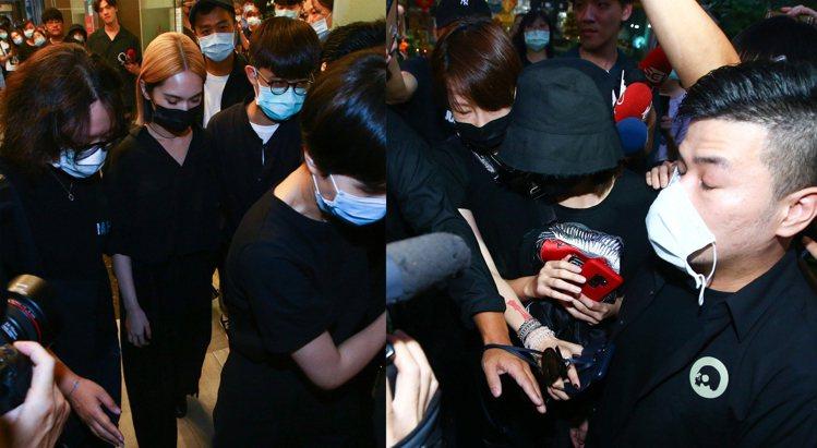 楊丞琳(左)與峮峮在小鬼靈堂開放首日都到了。記者葉信菉/攝影