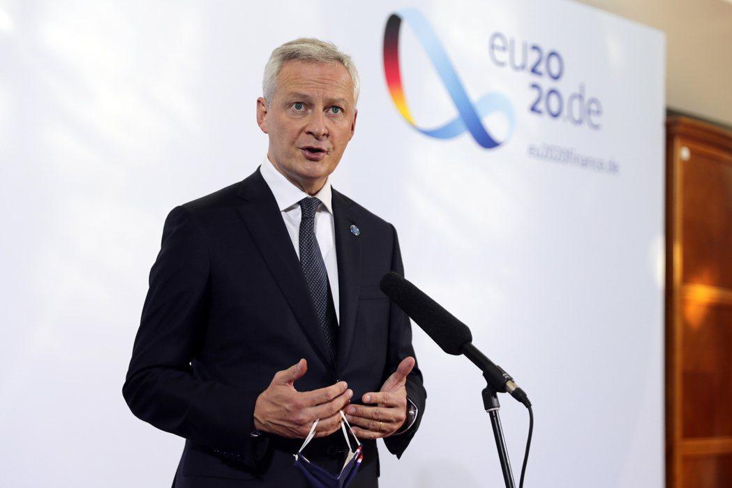 法國財長勒梅爾確診新冠肺炎,成為該國檢測呈陽性最高階的官員。(歐新社)