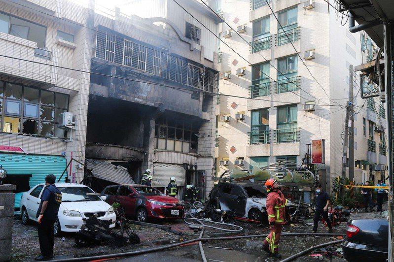 台中市東海商圈一處民宅昨天發生氣爆,造成4死1傷。 聯合報系資料照片/記者黃仲裕攝影