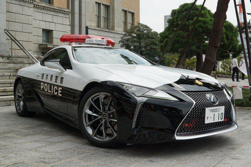 栃木縣全新警車Lexus LC500。 摘自Carwatch