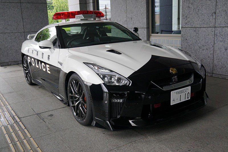 栃木縣警車Nissan GT-R。 摘自網路