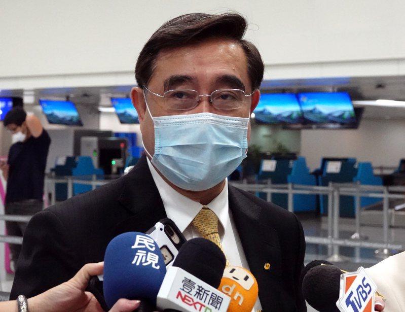 圖為新黨主席吳成典。 聯合報系資料照片/記者陳嘉寧攝影