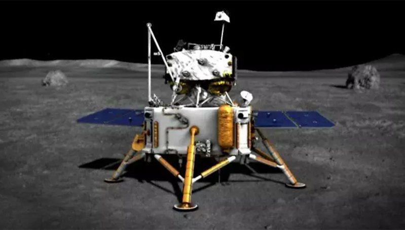 「嫦娥5號」登月示意圖。 圖/擷自騰訊網