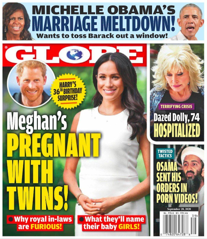 梅根被傳了一對雙胞胎女兒。圖/摘自Globe