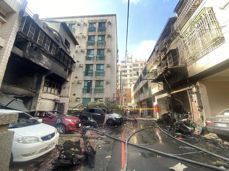 台中市東海商圈昨天發生氣爆案,除了造成4死1傷,還有嚴重的財務損失。記者趙容萱/攝影