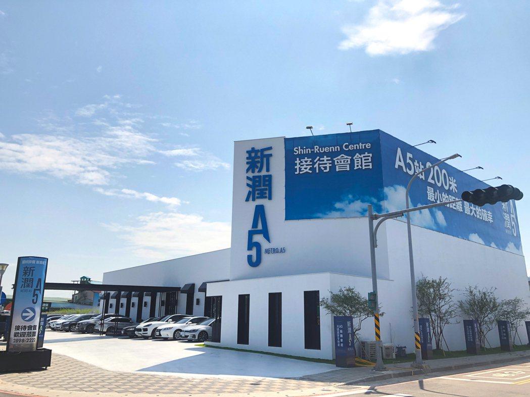塭仔圳「機捷A5特區」首案已公開銷售,在雙北市新案市場具有指標性。圖/房產業者提...