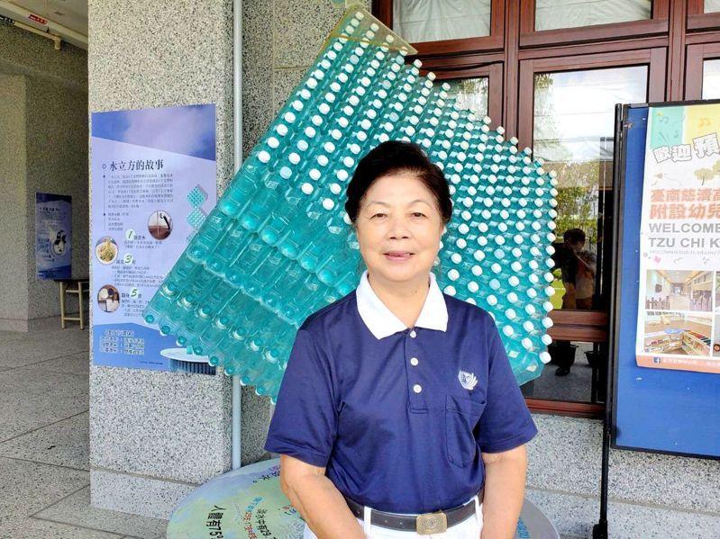 慈濟志工陳美表示,母親陳歐纏30年前跟著自己一起投入環保志業。圖/慈濟基金會提供