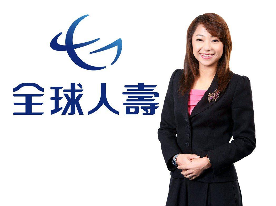 全球人壽冠一營業處區經理蔡倩渼建議,善用保險靠自己過好老後生活。全球人壽/提供