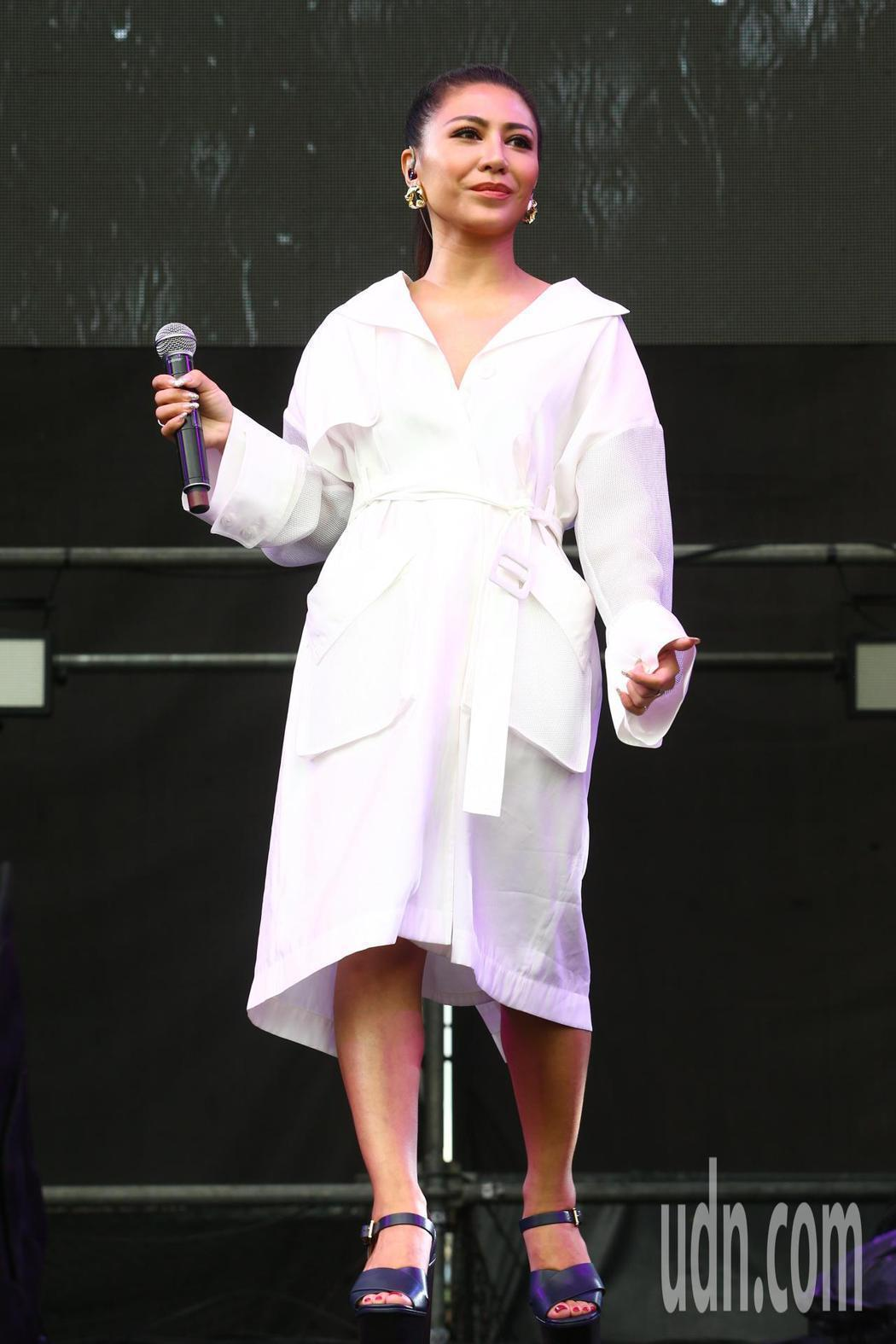 艾怡良擔任「綠生活音樂節」嘉賓。記者葉信菉/攝影