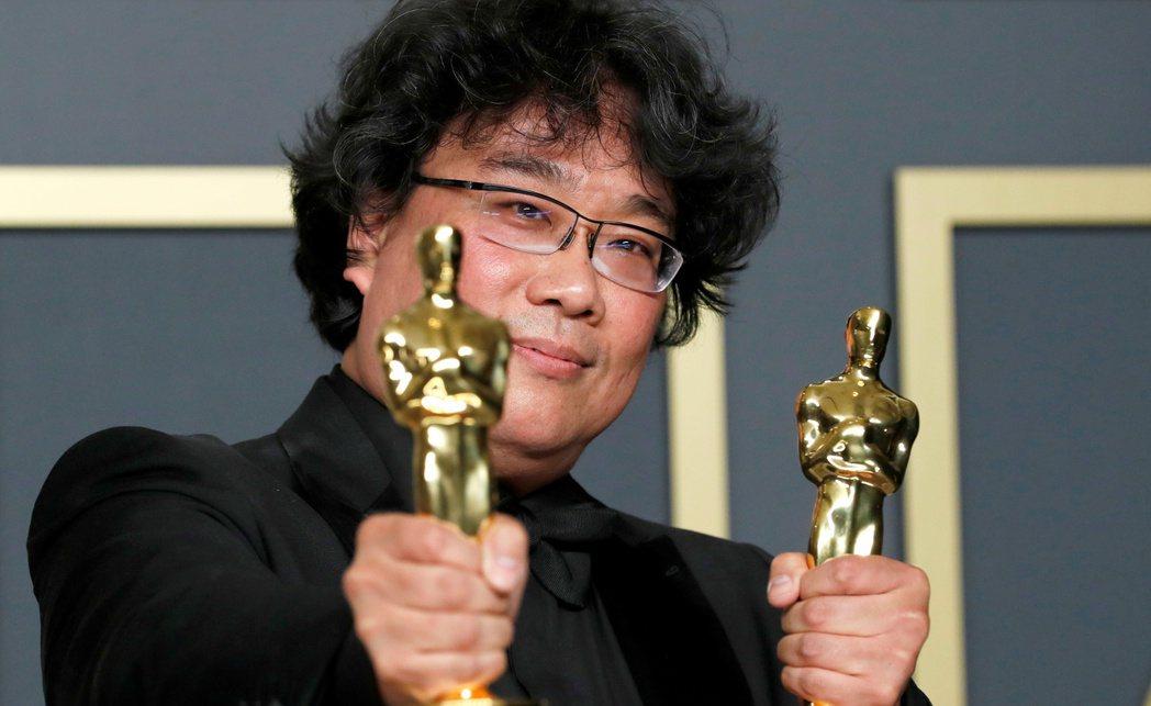 奉俊昊執導的電影《寄生上流》拿下今年奧斯卡最佳影片。 圖/路透社