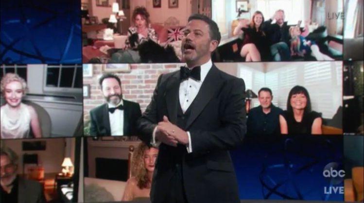 吉米金莫擔任艾美獎頒獎典禮主持人,今年也是首度以線上直播方式呈現。圖/摘自You...
