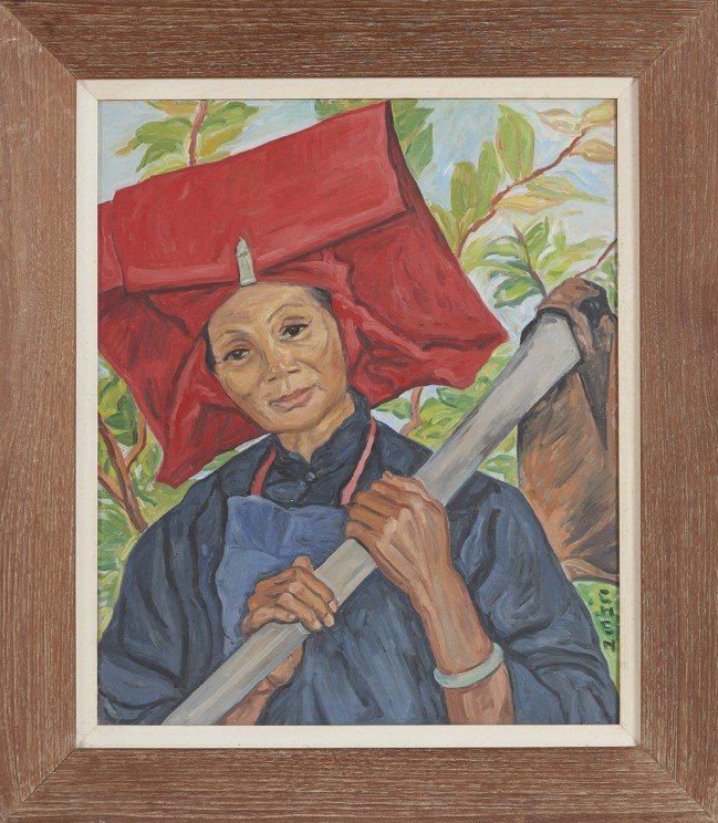 將於香港邦瀚斯上拍的新加坡歷來最重要女性藝術家張荔英畫作「三水婦女」,估價120...