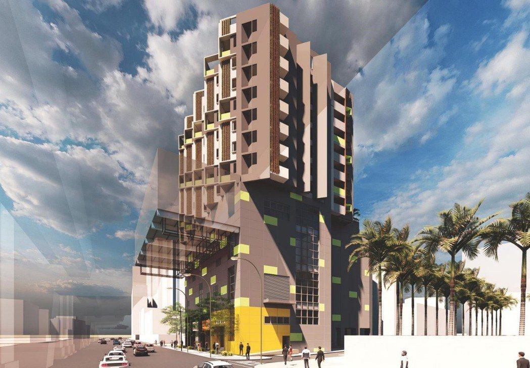 新北捷運局今與將捷集團共同簽署投資契約推出住商大樓,景平站將從地上6樓向上興建至...