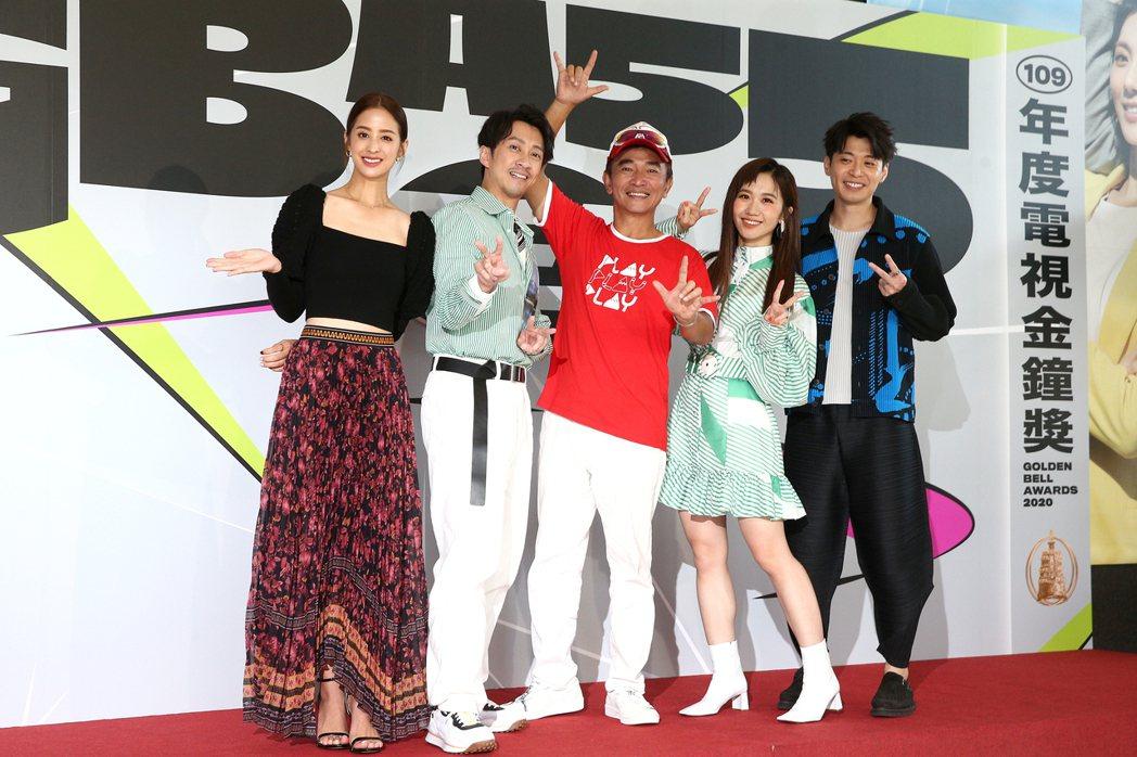 吳宗憲、陳漢典、Lulu與莫允雯、侯彥西一起出席金鐘分享會。記者蘇健忠/攝影