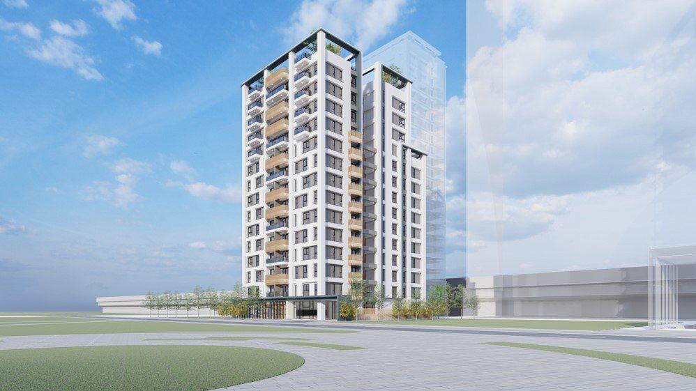板橋江翠段65地號社會住宅透視圖。圖/國家住都中心提供