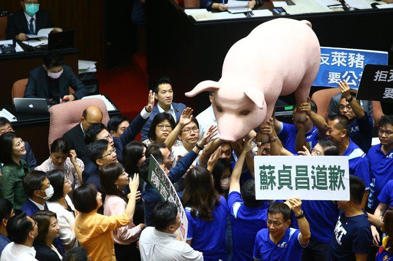 立法院新會期開議,美豬議題成朝野攻防焦點。圖/聯合報系資料照片