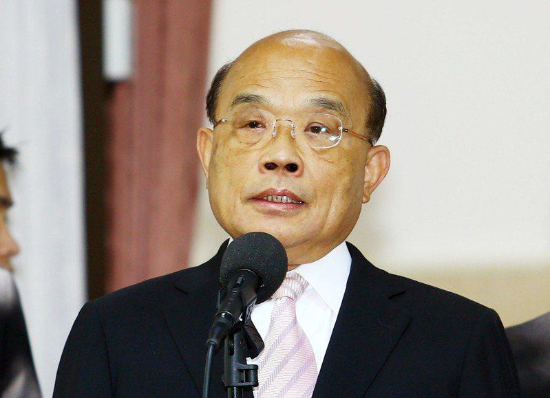 行政院長蘇貞昌。  記者杜建重/攝影