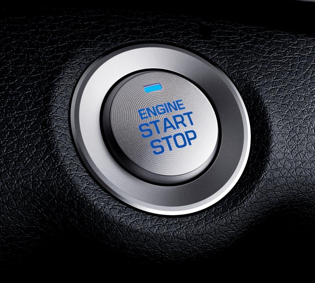 豪華款還配上Smart Key 、Push Start。 圖/南陽實業提供