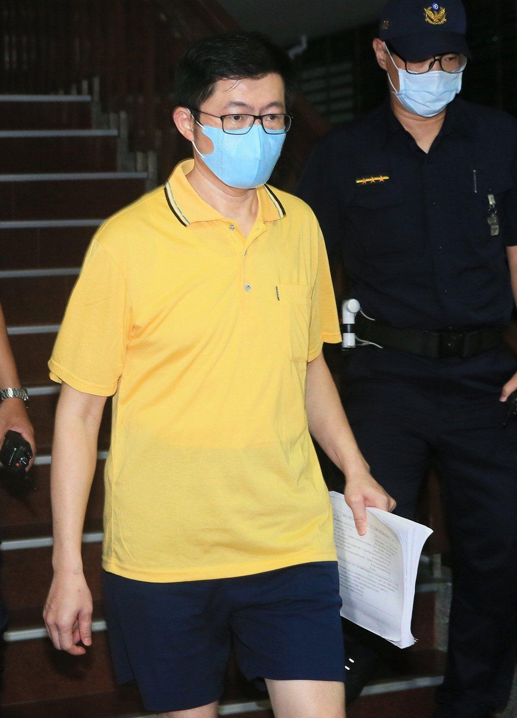 立委廖國棟辦公室主任丁復華在偵查中自白,並轉污點證人後獲得交保。記者潘俊宏/攝影