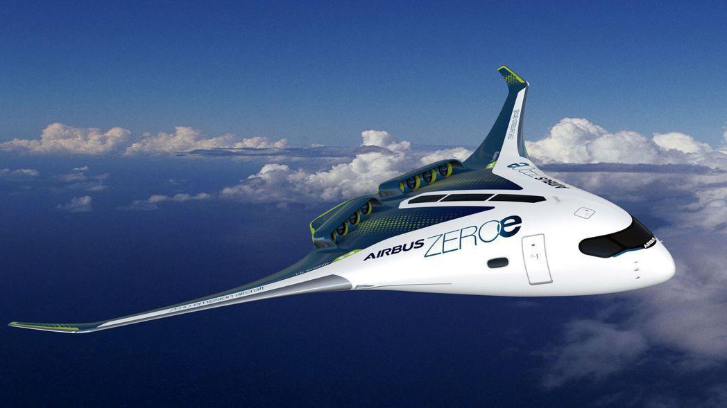 空中巴士21日發表三款零排放概念機,可望2035年問世。法新社