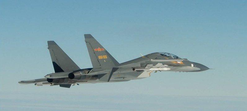 台灣國防部9月10日釋出未註明日期照片,顯示中國人民解放軍Su-30戰鬥機侵入台灣防空識別區。歐新社