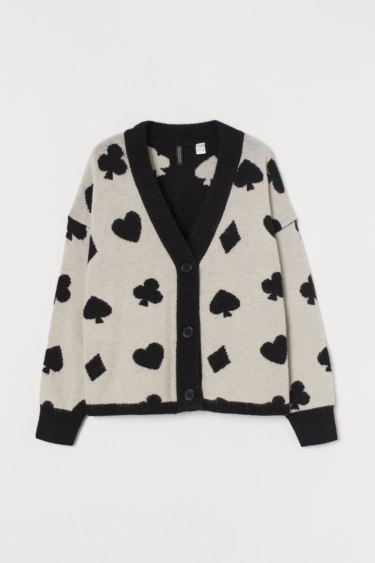 Divied亞洲時尚《愛麗絲夢遊仙境》聯名系列針織外套999元。圖/H&M提供