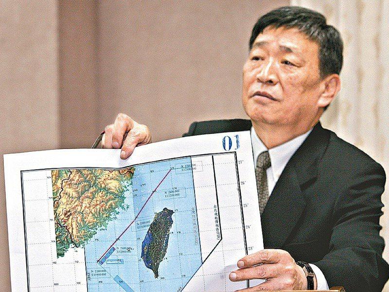 2004年國防部首次公布兩岸海峽中線位置,卻出現錯誤。圖/聯合報系資料照片