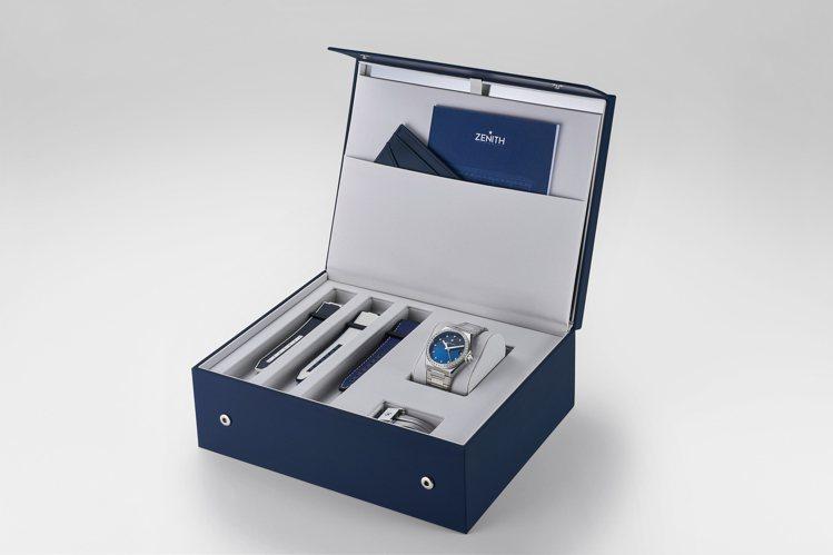 真力時DEFY MIDNIGHT 女士腕表配備精美特製表盒。圖/真力時提供