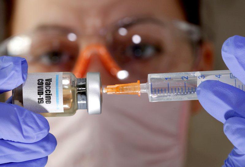 新冠疫苗研發進入試驗關鍵期。  路透