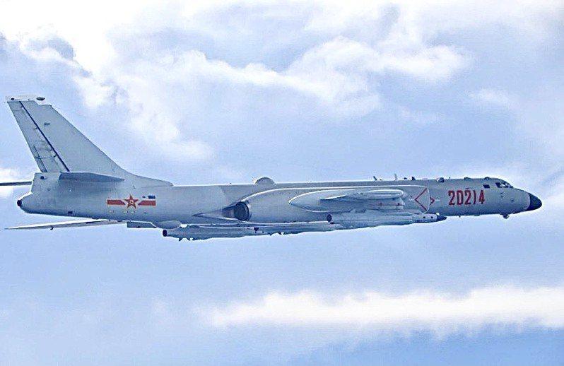 中共轟六型機。圖/國防部