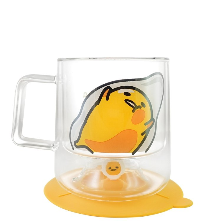 7-ELEVEN將於9月27日推出4款三麗鷗雙層玻璃杯組,矽膠杯蓋也可當杯墊使用...