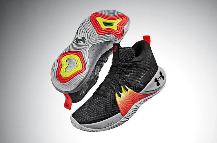 Joel Embiid首代UA EMBIID ONE簽名籃球鞋4,480元。圖/...