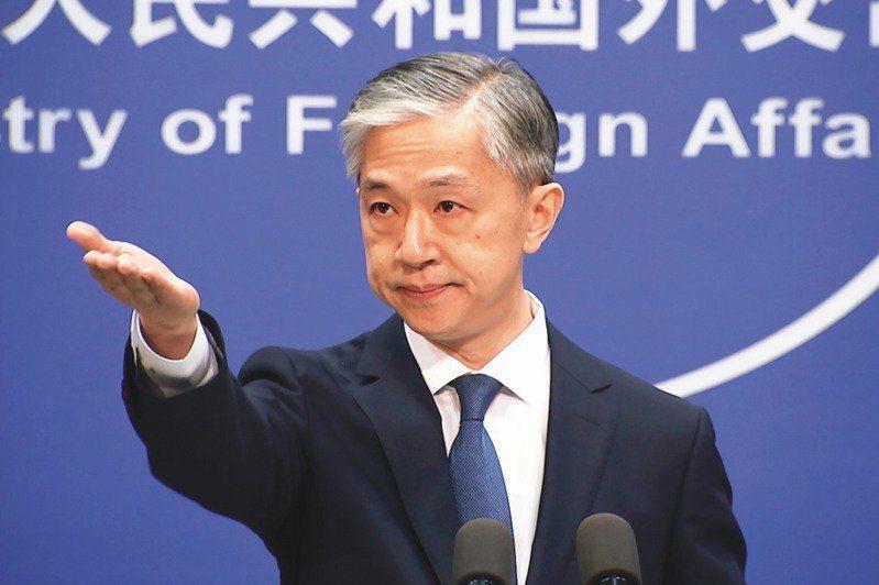 大陸外交部發言人汪文斌。圖/取自美聯社