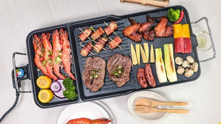 KINYO多功能電烤盤售價1,380元。圖/台隆手創館提供