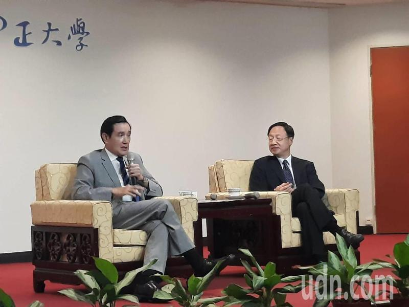 前總統馬英九表示,台灣不要當棋子,要當橋梁。記者陳玫伶/攝影