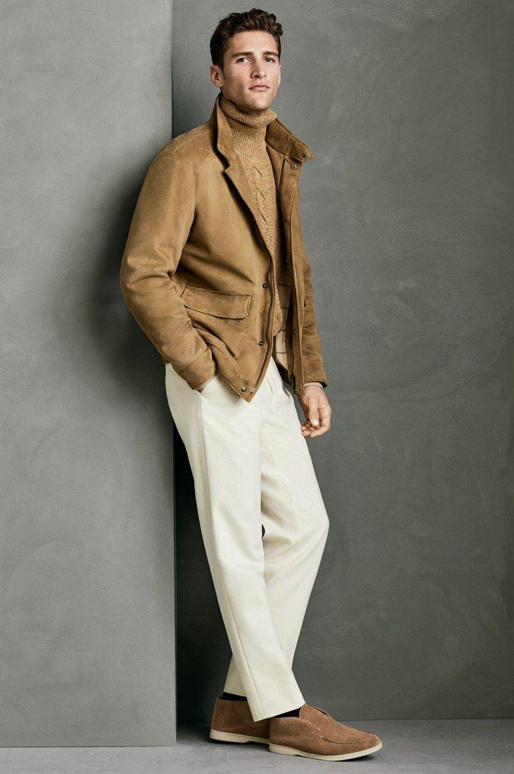 男裝的秋冬主題包括回歸經典駝色。圖/Loro Piana提供