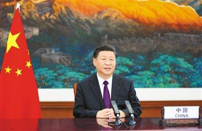 大陸國家主席習近平21日在聯合國成立75周年紀念峰會上發表談話。(新華社)