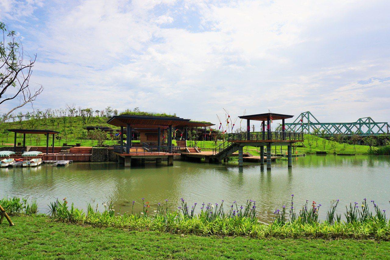 冬山河親水公園的主題為『親近水,擁有綠』。 圖/吳佩旻 攝影