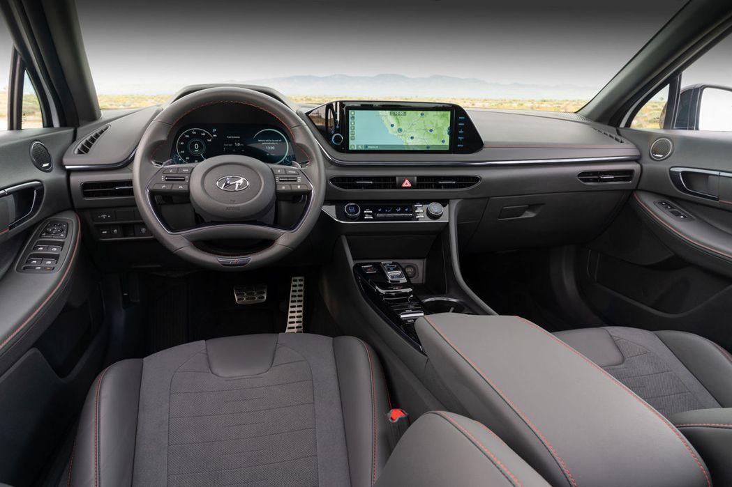 全新Hyundai Sonata N Line內裝。 摘自Hyundai