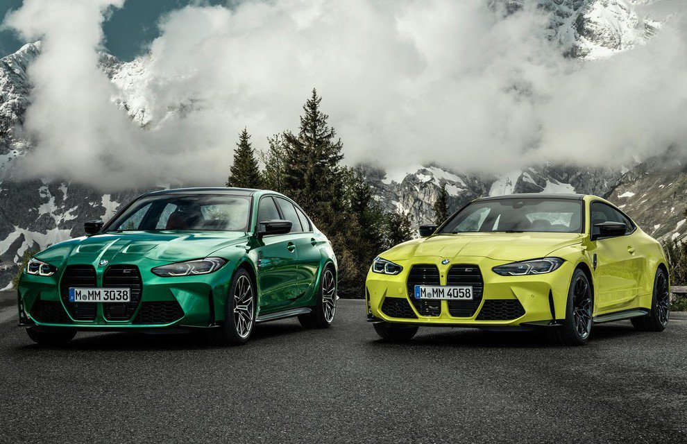 BMW M3 Competition(左),BMW M4 Competition...