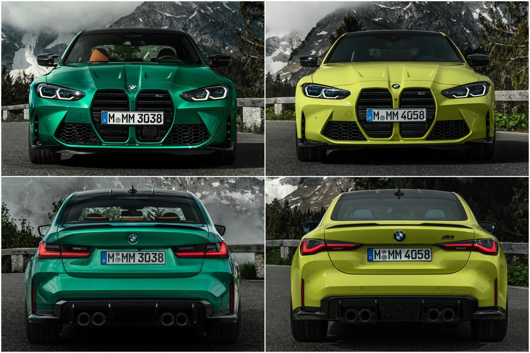 M3/M4不像普通版本有兩種車頭設計,這次全數使用大型雙腎水箱罩。 摘自BMW