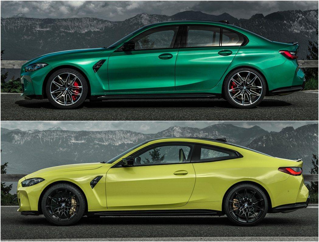 雖然新一代的M3/M4車身尺碼不算小,但仍然保持相當運動流線的輪廓。 摘自BMW