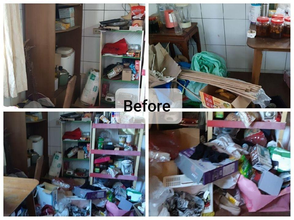 我們不隨意丟任何東西,所有物品都集中後給她確認,全部經由她同意看過決定去留。 圖...