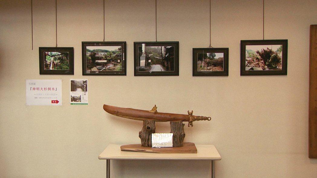 湫町在地的雕刻藝術家、現年66歲的天野裕夫,為了感念大杉神木,在2013年時以神...