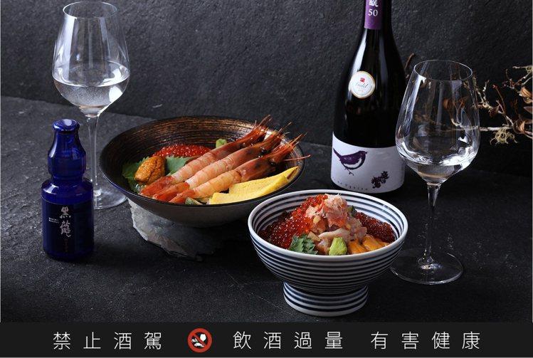 歐子豪所挑選的9款日本酒,各自都有適合搭配的料理與食材。圖/日本橋海鮮丼 辻半提...