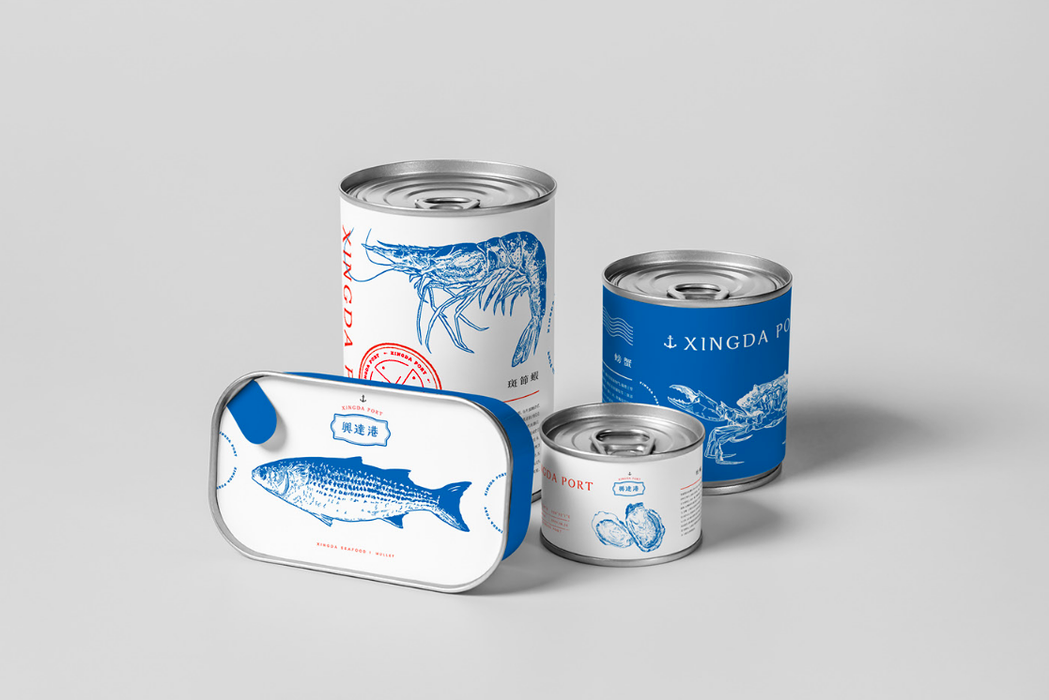 興達港罐頭包裝設計。 圖/好視設計提供